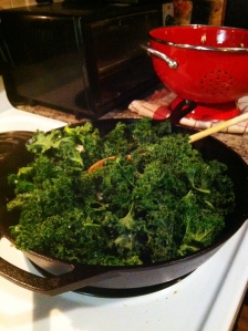 kale cooking
