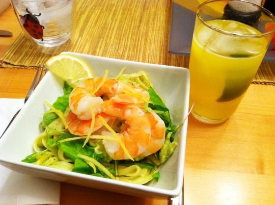 shrimp avocado pasta
