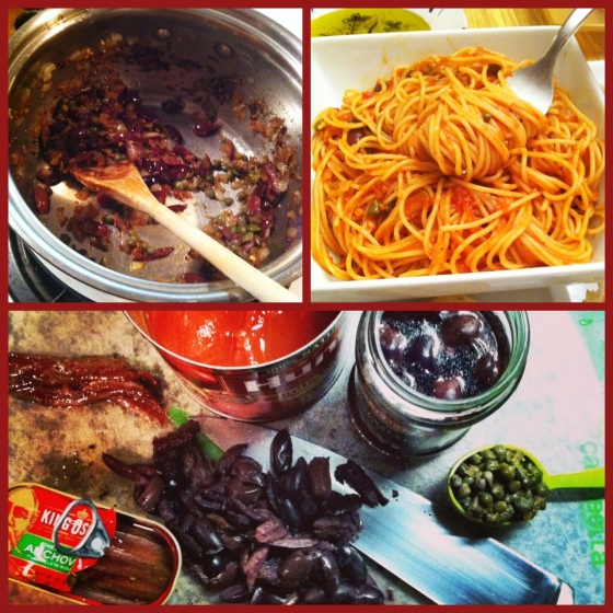 Almost everything you need to be Italian. Or at least to make Puttanesca.