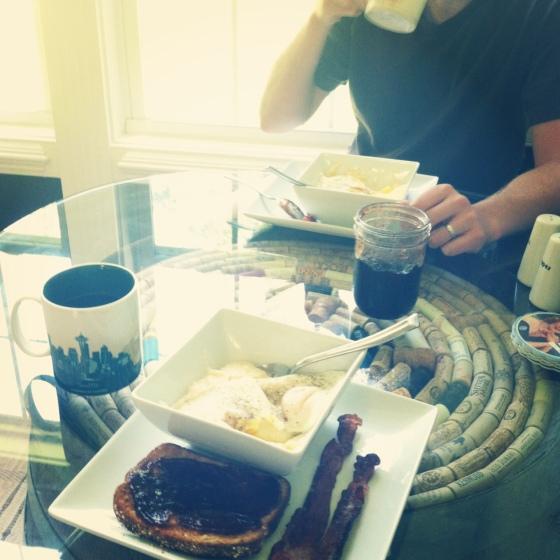 Oh the beauty of Sunday breakfast